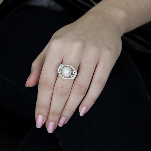 bague femme argent zirconium perle 8100564 pic5