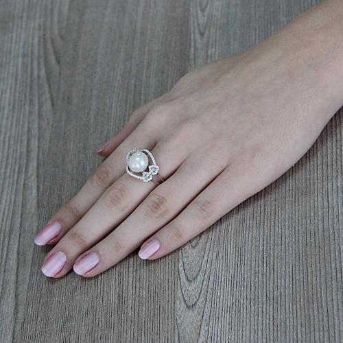 bague femme argent zirconium perle 8100564 pic6