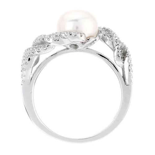 bague femme argent zirconium perle 8100565 pic3