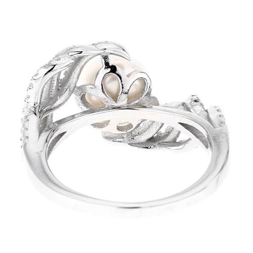 bague femme argent zirconium perle 8100565 pic4