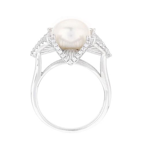 bague femme argent zirconium perle 8100566 pic3
