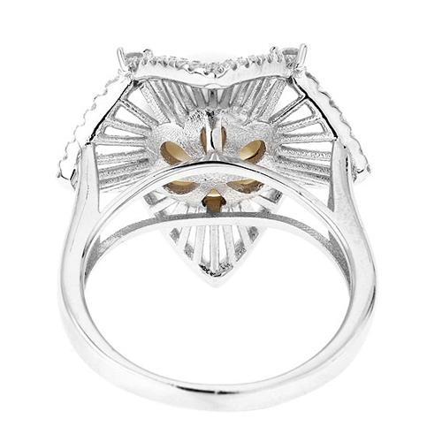 bague femme argent zirconium perle 8100566 pic4
