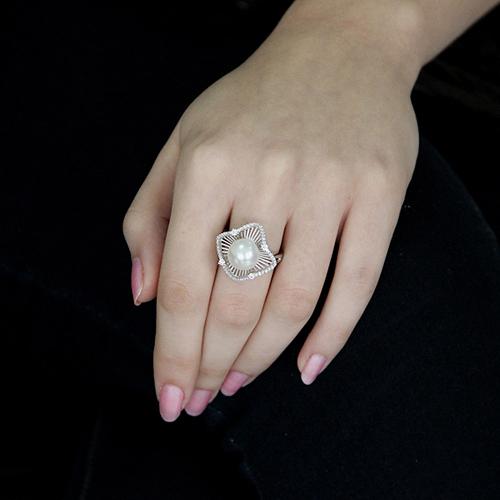 bague femme argent zirconium perle 8100566 pic5