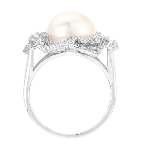 bague femme argent zirconium perle 8100567 pic3