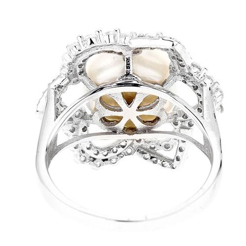 bague femme argent zirconium perle 8100567 pic4