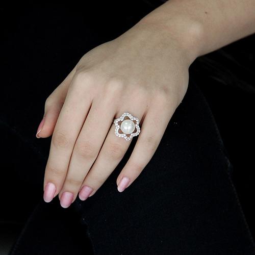 bague femme argent zirconium perle 8100567 pic5