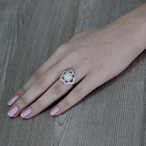bague femme argent zirconium perle 8100567 pic6