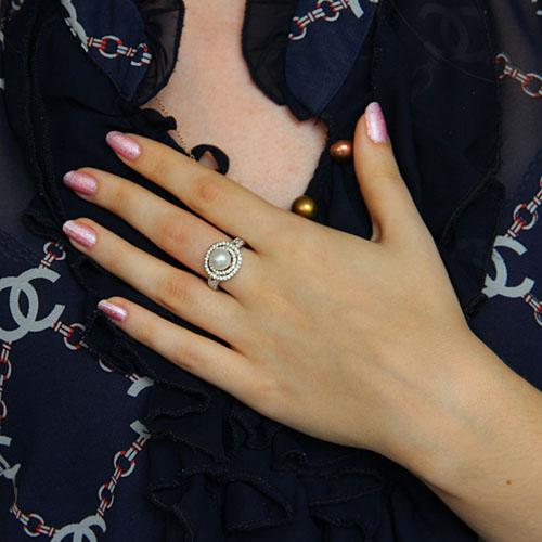 bague femme argent zirconium perle 8101198 pic6