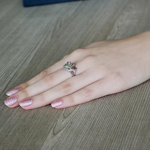 bague femme argent zirconium tourmaline 8100318 pic5