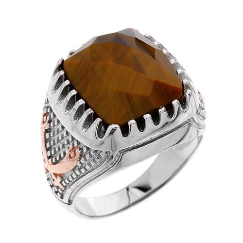 bague homme argent diamant 8100176