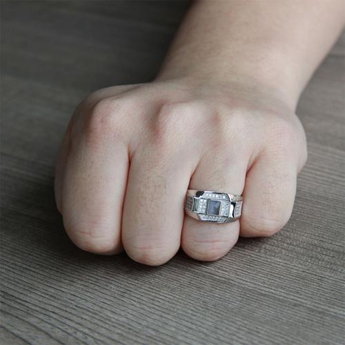 bague homme argent zirconium 8100210 pic6