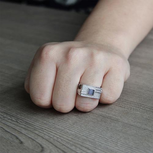 bague homme argent zirconium 8100211 pic6