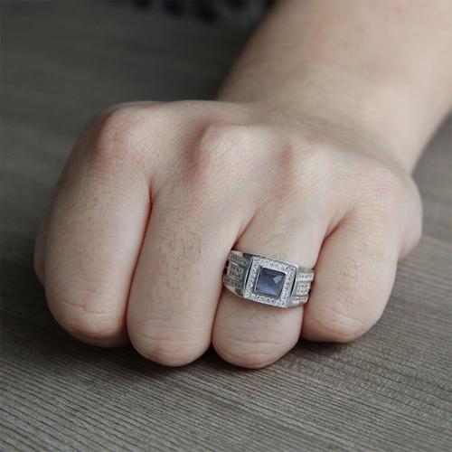 bague homme argent zirconium 8100212 pic6