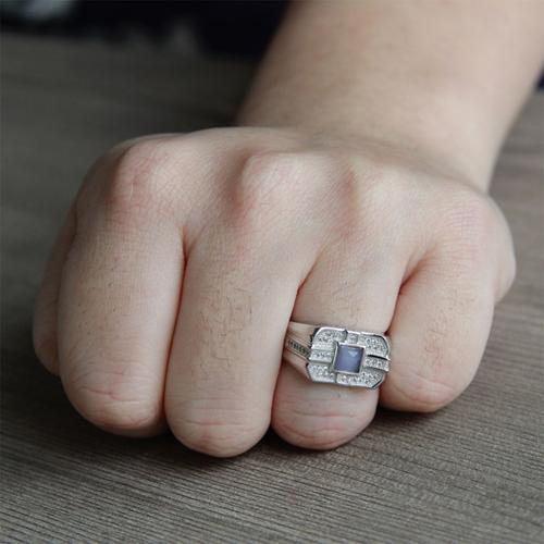 bague homme argent zirconium 8100214 pic6