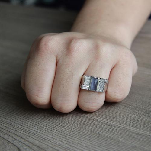 bague homme argent zirconium 8100217 pic6