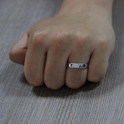 bague homme argent zirconium 8101052 pic5