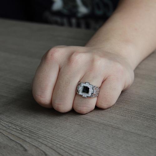 bague homme argent zirconium agate 8100254 pic6
