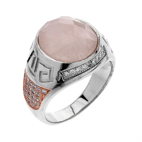 bague homme argent zirconium cristal 8100178