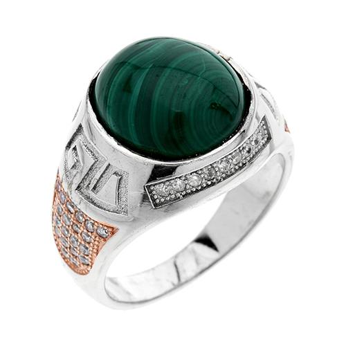 bague homme argent zirconium diamant 8100179