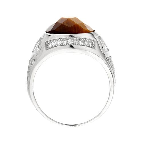 bague homme argent zirconium diamant 8100180 pic3