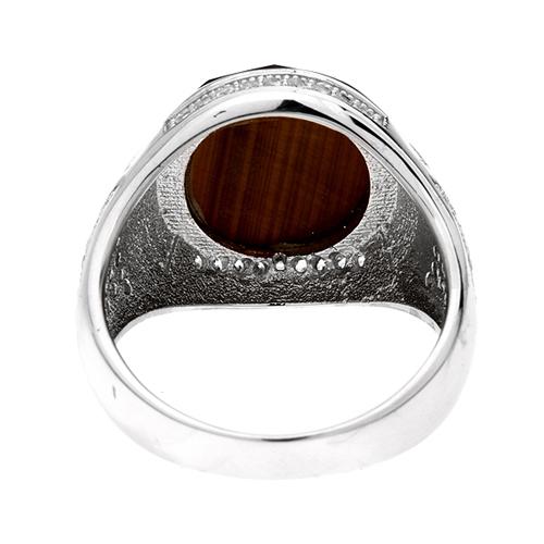 bague homme argent zirconium diamant 8100180 pic4