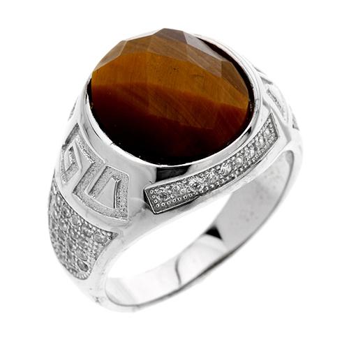 bague homme argent zirconium diamant 8100180