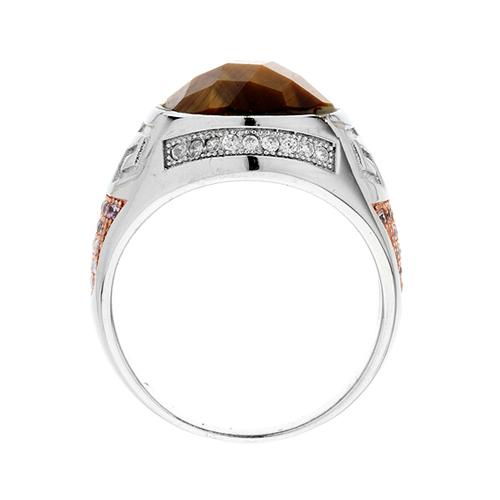 bague homme argent zirconium diamant 8100181 pic3
