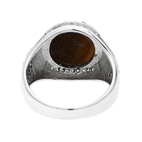 bague homme argent zirconium diamant 8100181 pic4