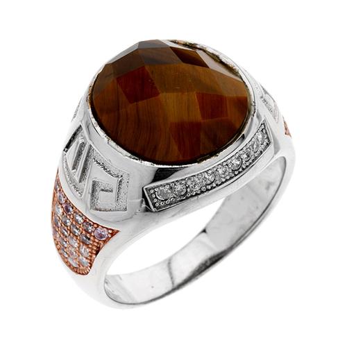 bague homme argent zirconium diamant 8100181