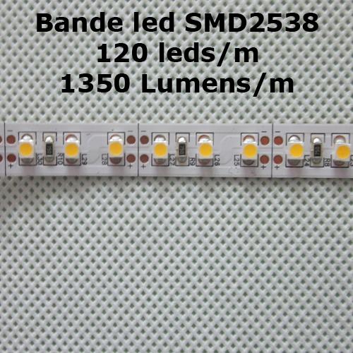 bande led SMD2835 120 leds 1350 Lumens