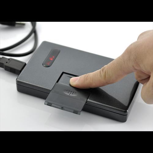 boitier securite empreintes digitales disque dur