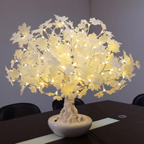 Bonsai érable lumineux avec pot en céramique 100 x 80 cm - 175 leds ...
