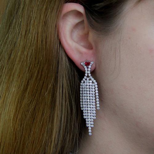 boucle oreille argent zirconium 9300188 pic5