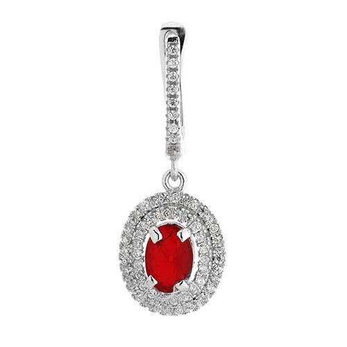 boucle oreille femme argent diamant 9300205 pic2