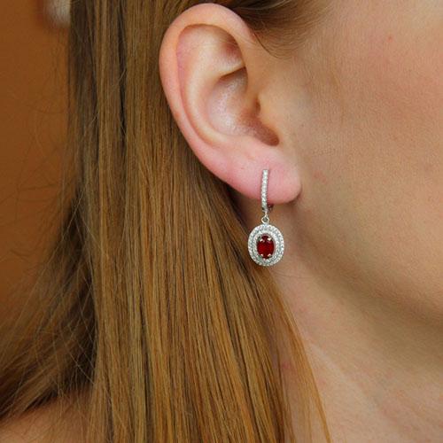 boucle oreille femme argent diamant 9300205 pic5