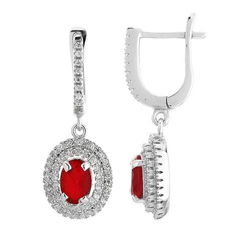 boucle oreille femme argent diamant 9300205