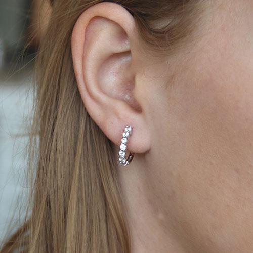 boucle oreille femme argent zirconium 8700008 pic5