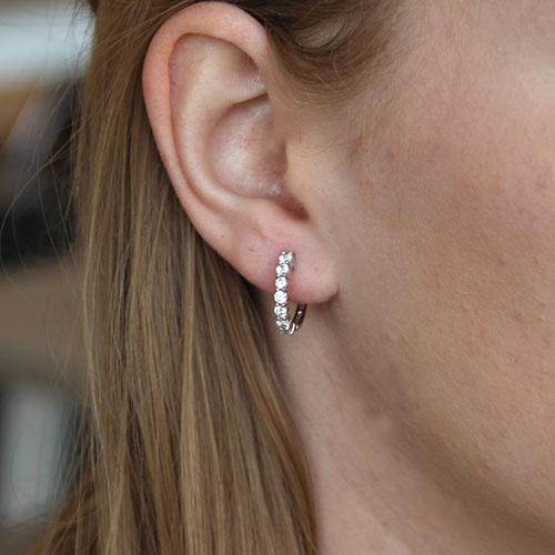 boucle oreille femme argent zirconium 8700008 pic6
