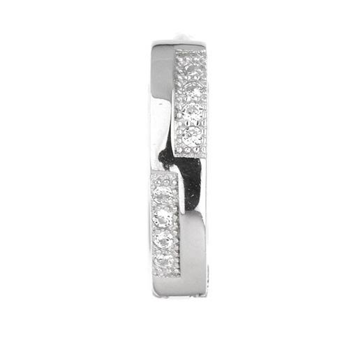 boucle oreille femme argent zirconium 8800024 pic2