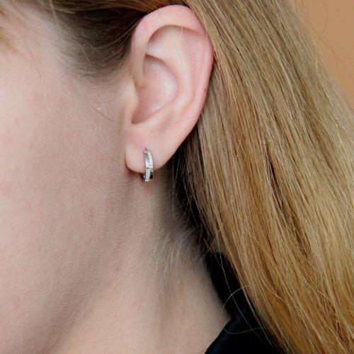 boucle oreille femme argent zirconium 8800024 pic5