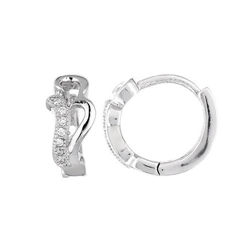 boucle oreille femme argent zirconium 8800025