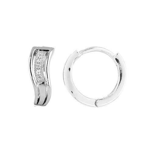 boucle oreille femme argent zirconium 8800026
