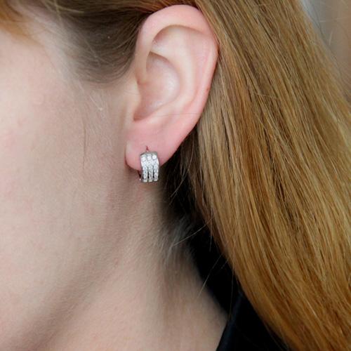 boucle oreille femme argent zirconium 8800028 pic5