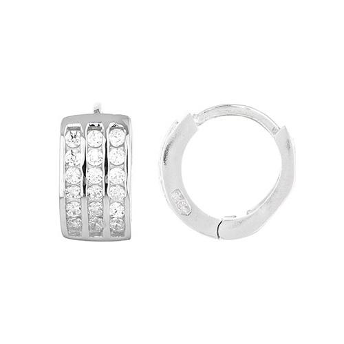 boucle oreille femme argent zirconium 8800028