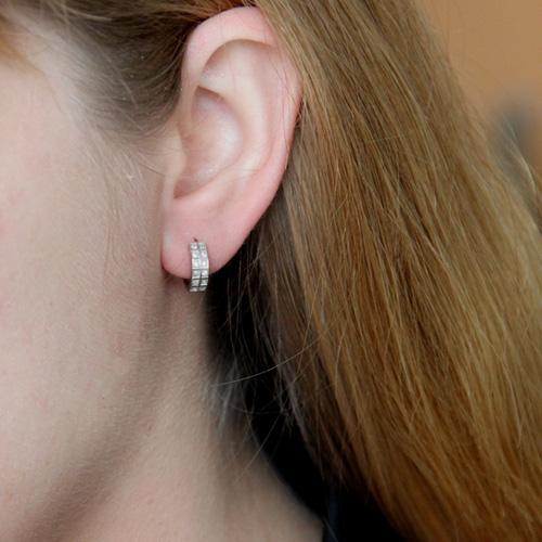 boucle oreille femme argent zirconium 8800029 pic5