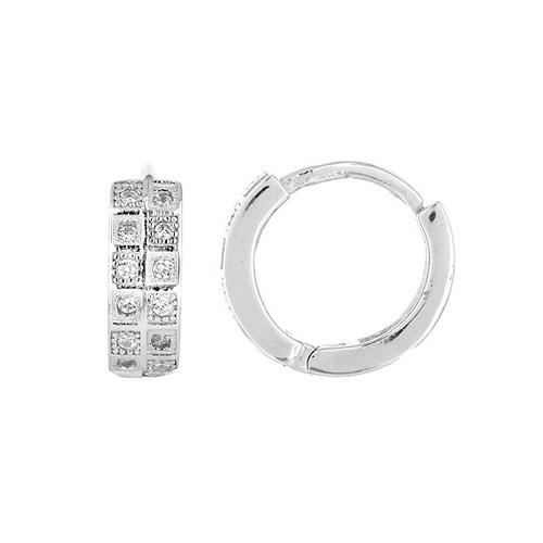 boucle oreille femme argent zirconium 8800029