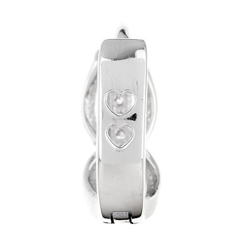 boucle oreille femme argent zirconium 8800030 pic4