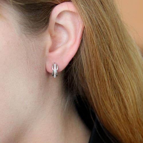 boucle oreille femme argent zirconium 8800030 pic5
