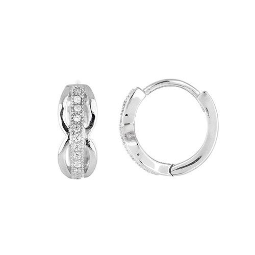 boucle oreille femme argent zirconium 8800030