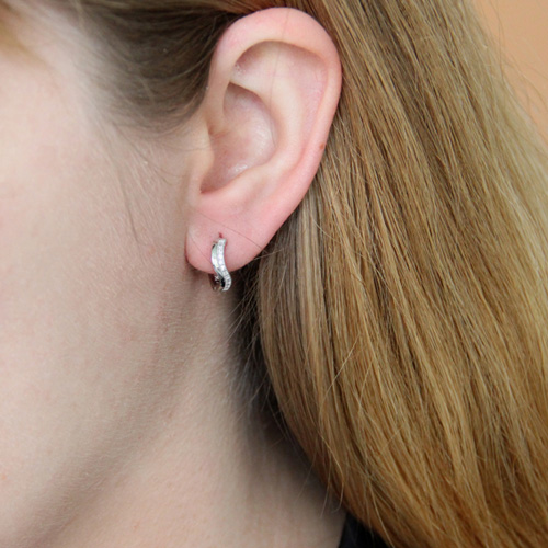 boucle oreille femme argent zirconium 8800031 pic5